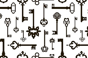 vintage keys pattern
