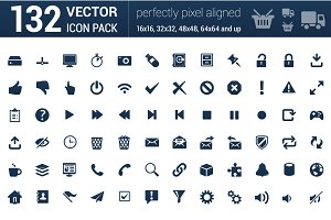 132 Universal outline icons.