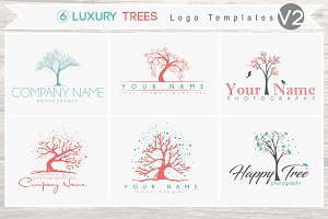 6 Luxury Tree Logo Bundle - Vol 2
