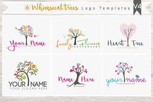 6 Whimsical trees Logo Bundle - V4