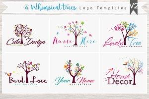 6 Whimsical trees Logo Bundle - V2