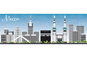 Mecca Skyline with Landmarks