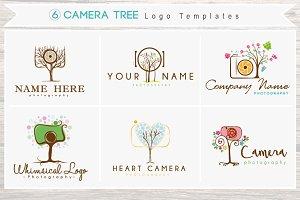 6 Camera Tree Logo Bundle- Whimsical