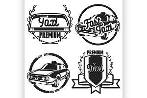 Vintage taxi emblems