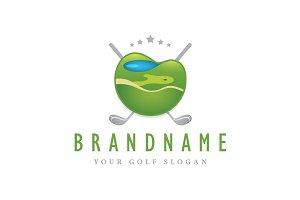 Golf Course Emblem Logo