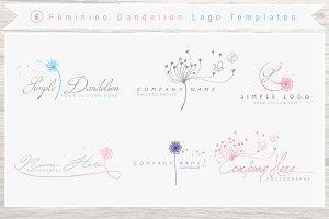6 Dandelion Logo +businesscards pack