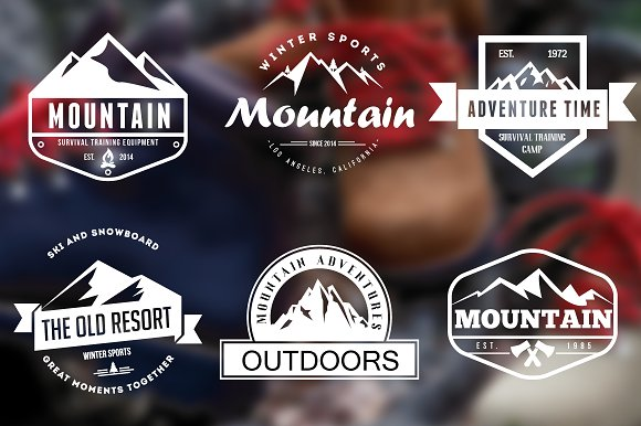 e55c8f1133 Mountain Vintage Badges ~ Logo Templates ~ Creative Market