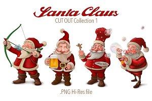 Santa Claus cut-out collection 1