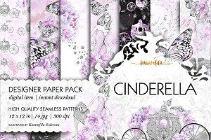 Cinderella Seamless Patterns