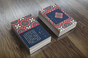 Card template in ethnic style.