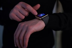 Man with smart watch