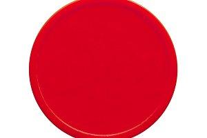 Red plastic token money