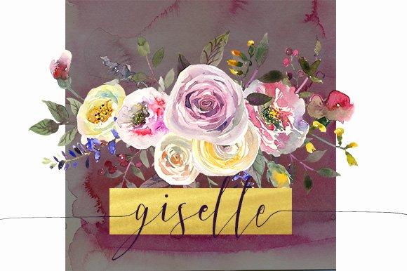 Watercolor pink yellow flowers illustrations creative market mightylinksfo