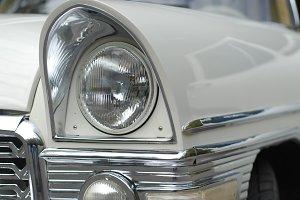 a white luxury retro limousine