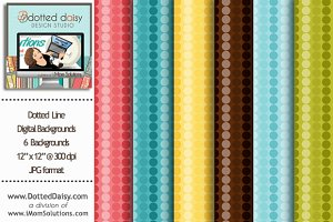 Dotted Line Digital Backgrounds