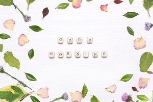"The phrase ""good morning"""