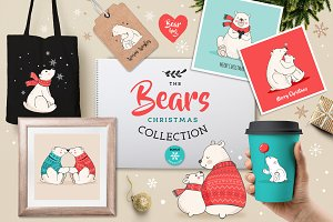 Polar Bears, Christmas illustrations
