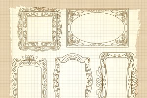 Ornamental frames on vintage