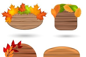 Autumn wood banners