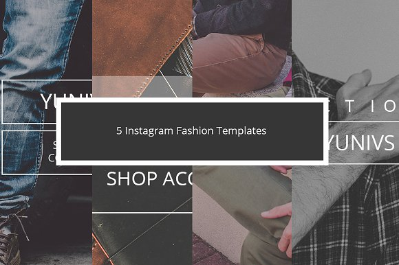 5 Instagram Fashion Templates