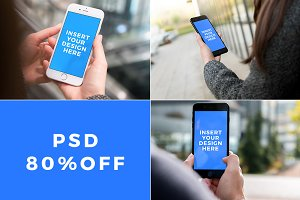 [80% OFF] 3 iPhone 7 PSD Mockups