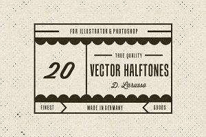 20 Vintage Vector Halftones