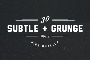 30 Very Subtle Grunge Brushes V.1