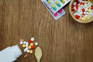 Colorful medicine.