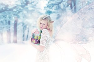 beautiful girl elf in the forest