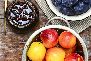 Autumn plum jam