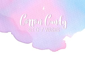 Cotton candy washes
