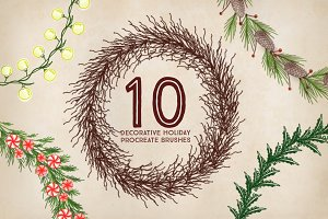 10 Holiday Procreate Brushes