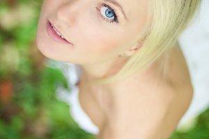 beautiful blue-eyed girl