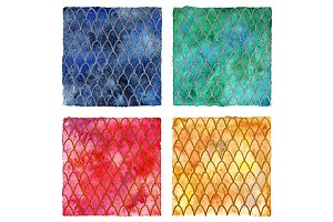 Dragon skin scales pattern set