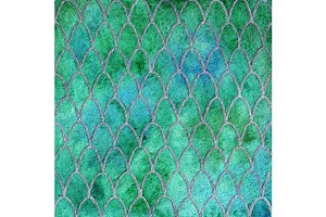 Green dragon skin pattern vector