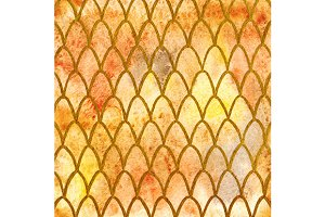 Yellow dragon skin pattern vector