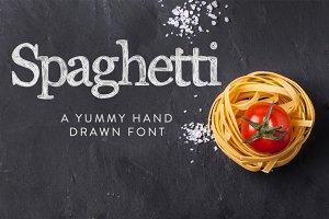 Spaghetti Hand Drawn Font