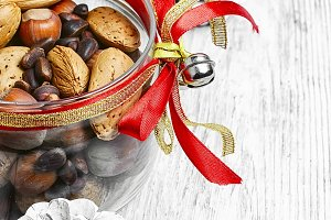 mix of hazelnuts