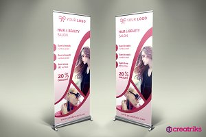 Hair Style Roll Up Banner - v036