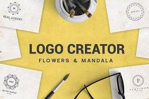 Logo Creator Flowers & Mandala