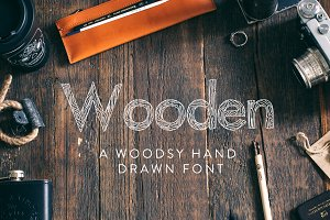 Wooden Hand Drawn Font