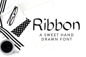 Ribbon Hand Drawn Font