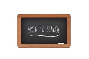 Black chalkboard isolated