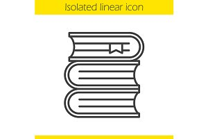 Books stack linear icon. Vector