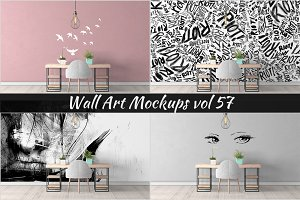 Wall Mockup - Sticker Mockup Vol 57