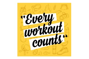 Fitness motivation quote poster
