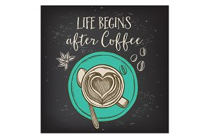 Coffee quote poster