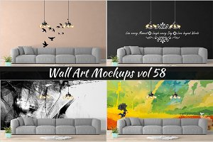 Wall Mockup - Sticker Mockup Vol 58