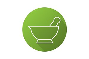 Mortar and pestle icon. Vector