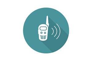 Walkie talkie icon. Vector